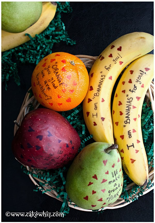 Valentines day fruits with cute messages 1