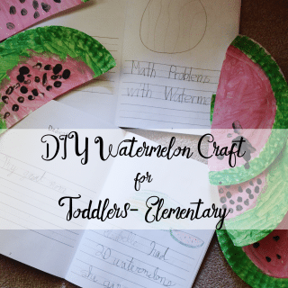 DIY Watermelon Craft for toddlers- elementary
