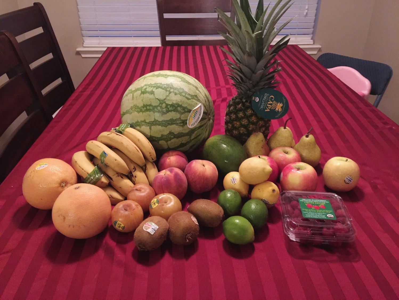 CSA fruits and veggies