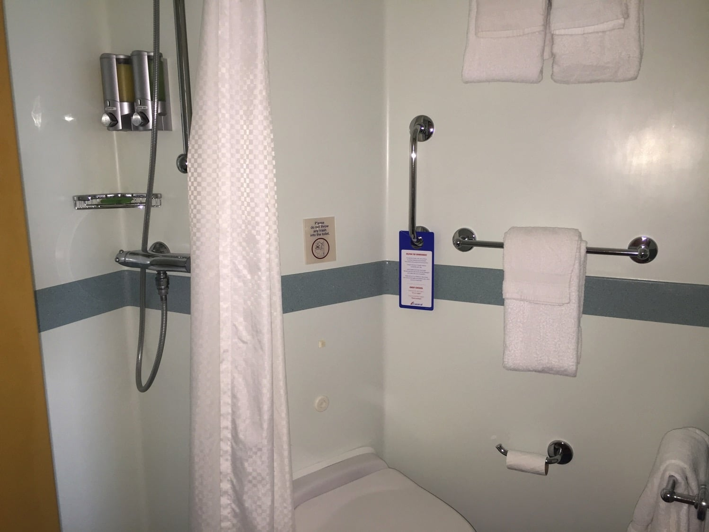 Family Cruise: Carnival Cruise Magic Balcony Room Bathroom