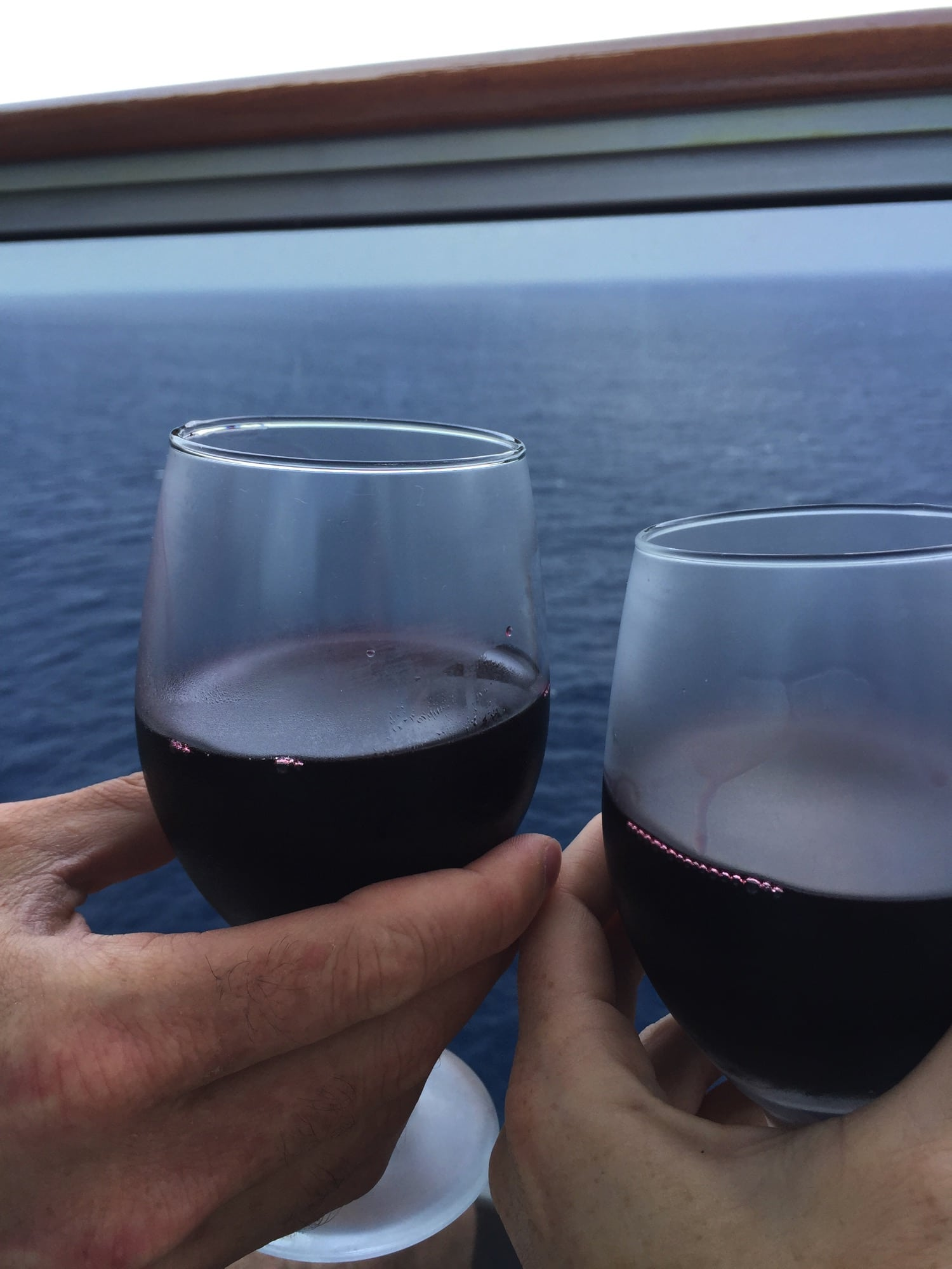 family cruise | wine at dinner