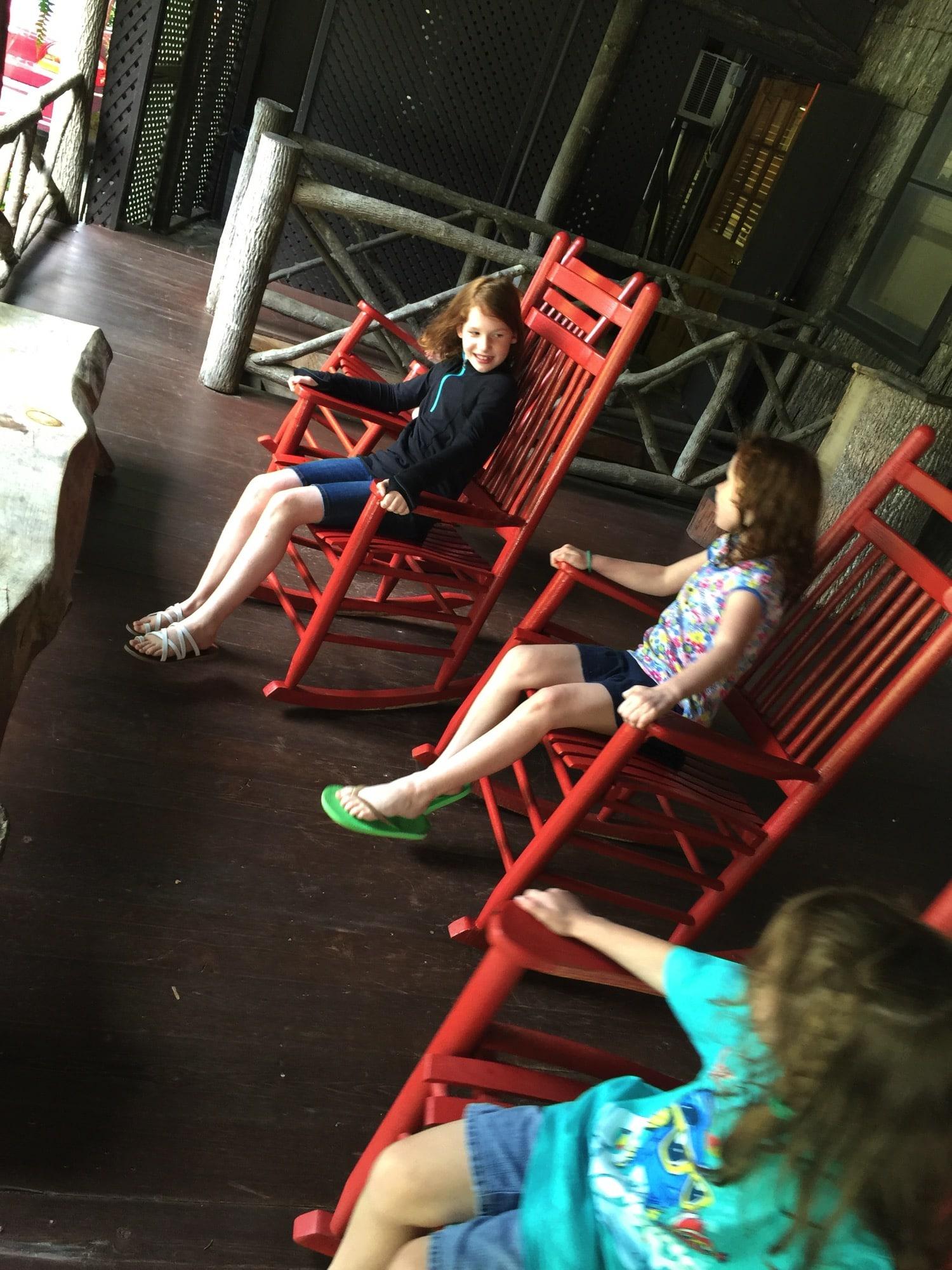 high hampton inn porch sitting