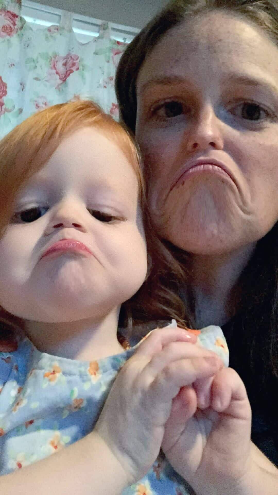 Mommy and Me Monday silly faces sad