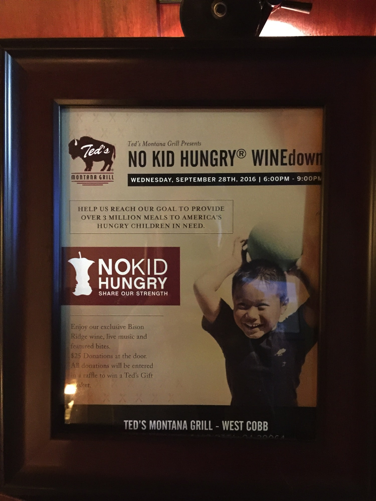 No Kid Hungry at Ted's