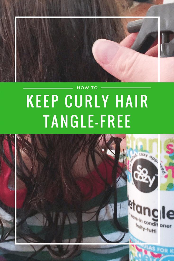 Keep curly hair tangle free