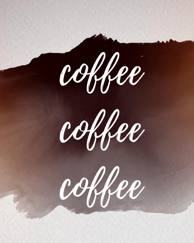 coffee coffee coffee printable sign free