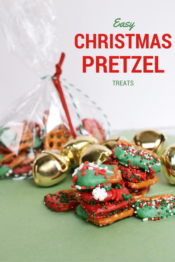 Easy christmas pretzel treats
