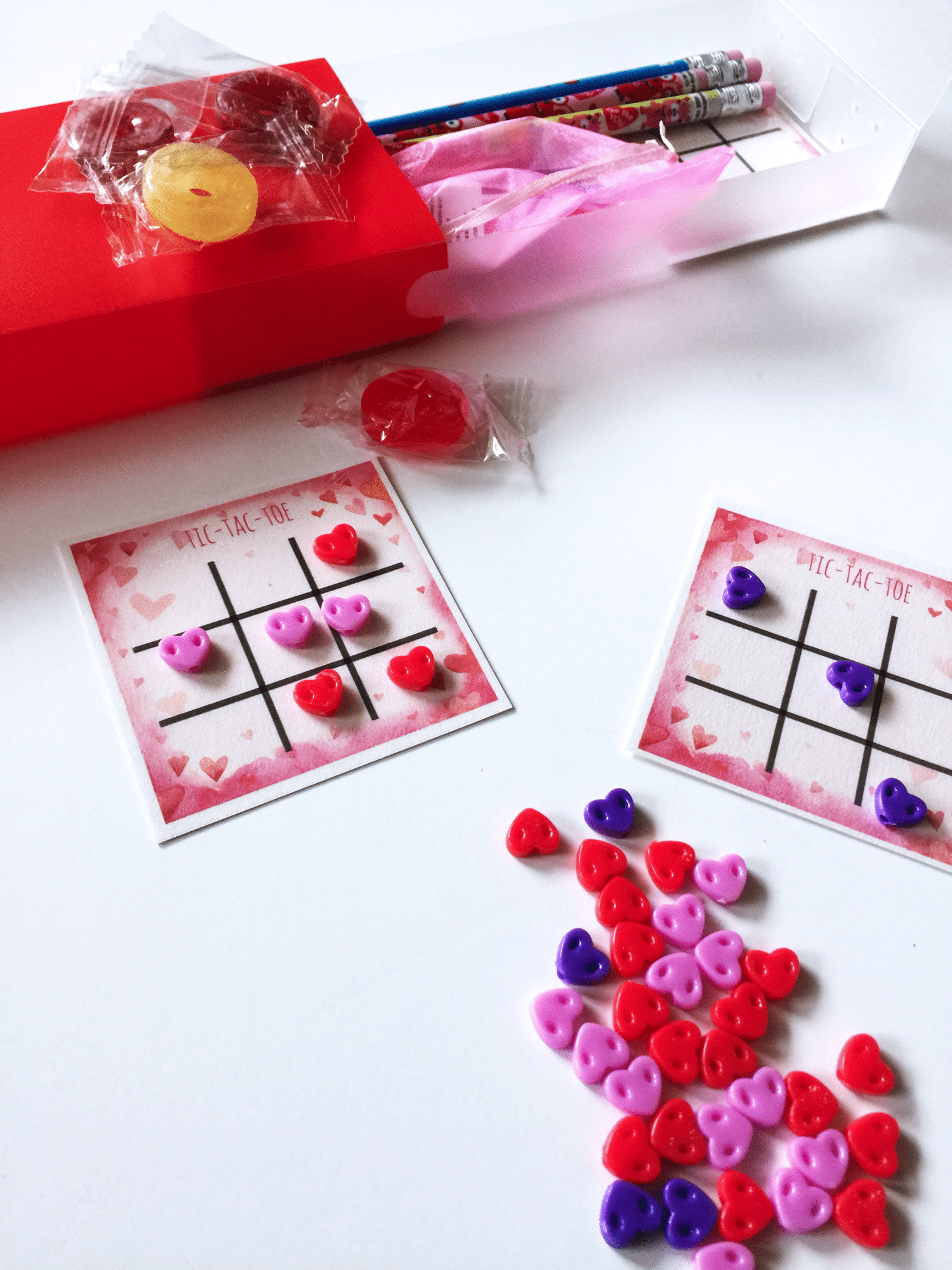 Valentine s tic tac toe reusable board