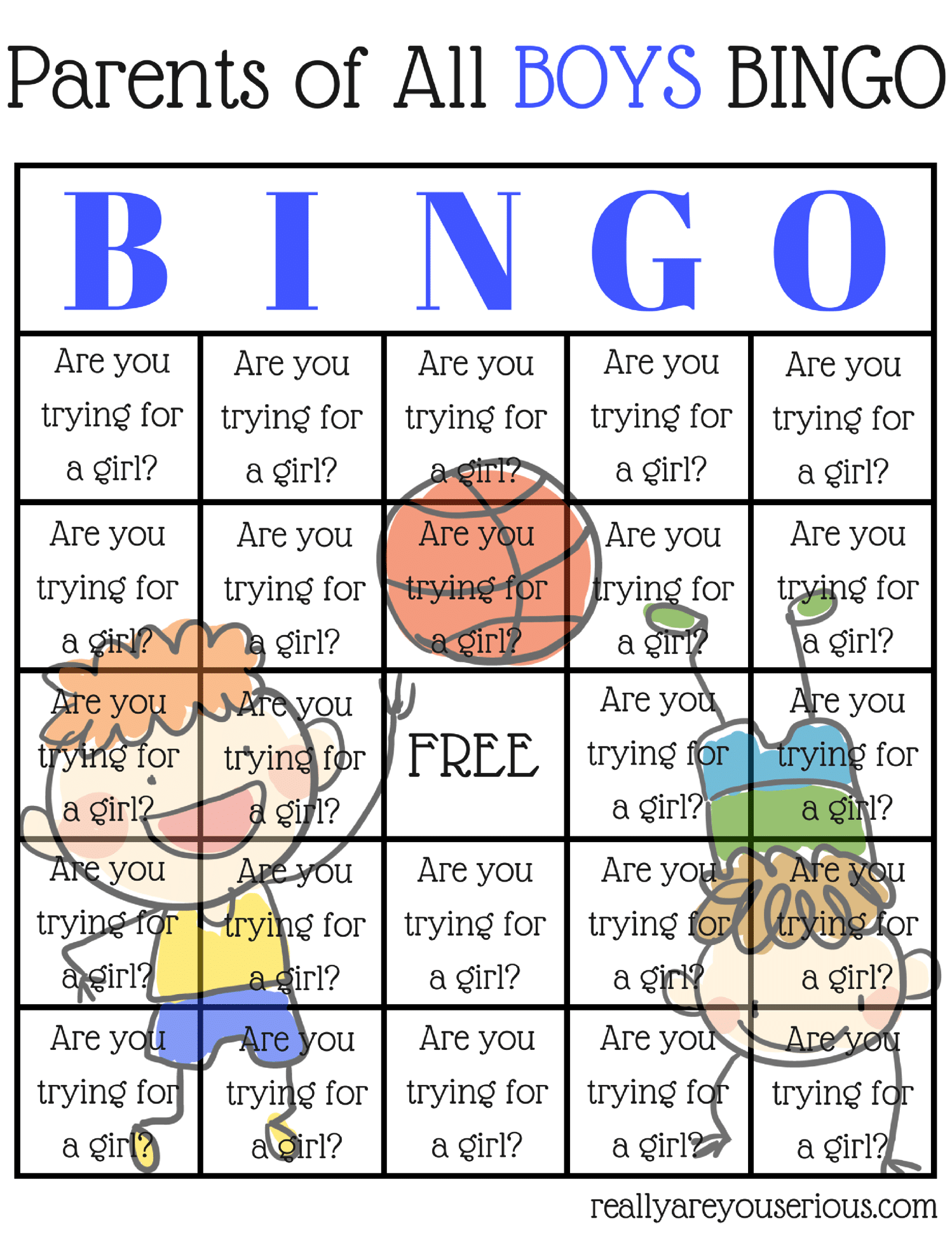 boy parent BINGO