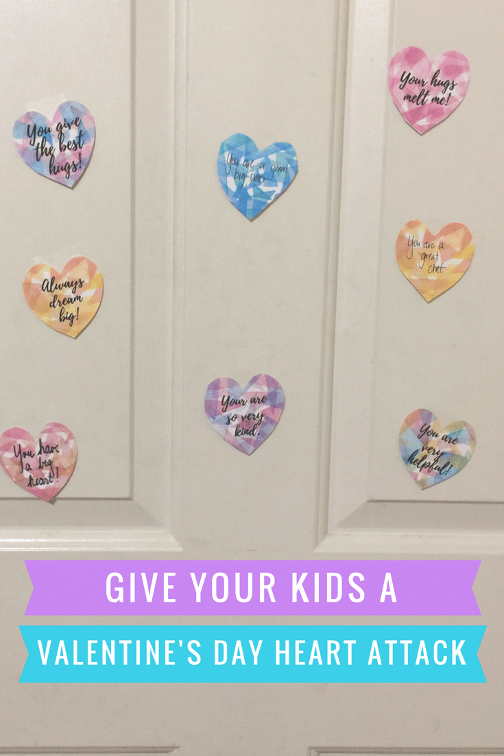 Give your kids a heart attack with free printable