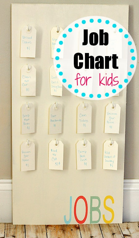 Kids job chart uncommondesignsonline