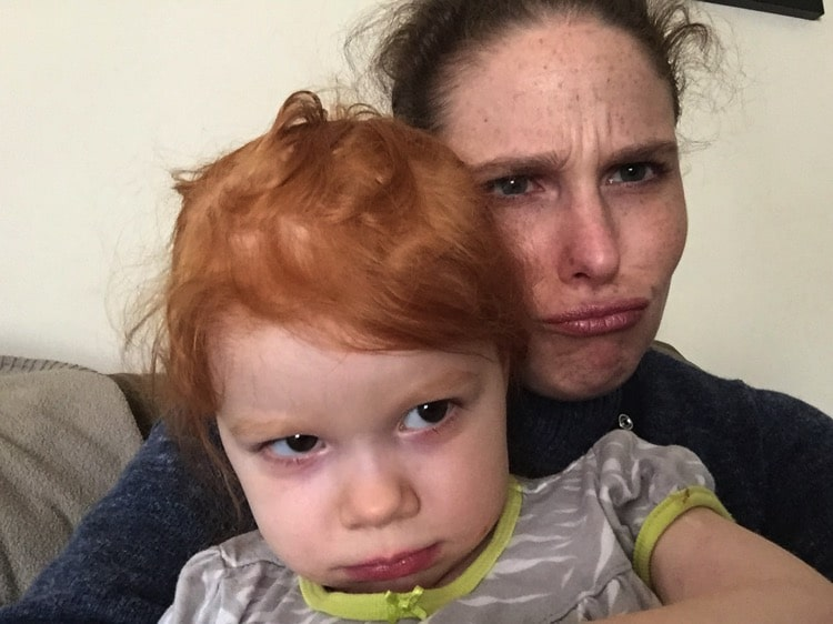 mommy and me monday pouty lips