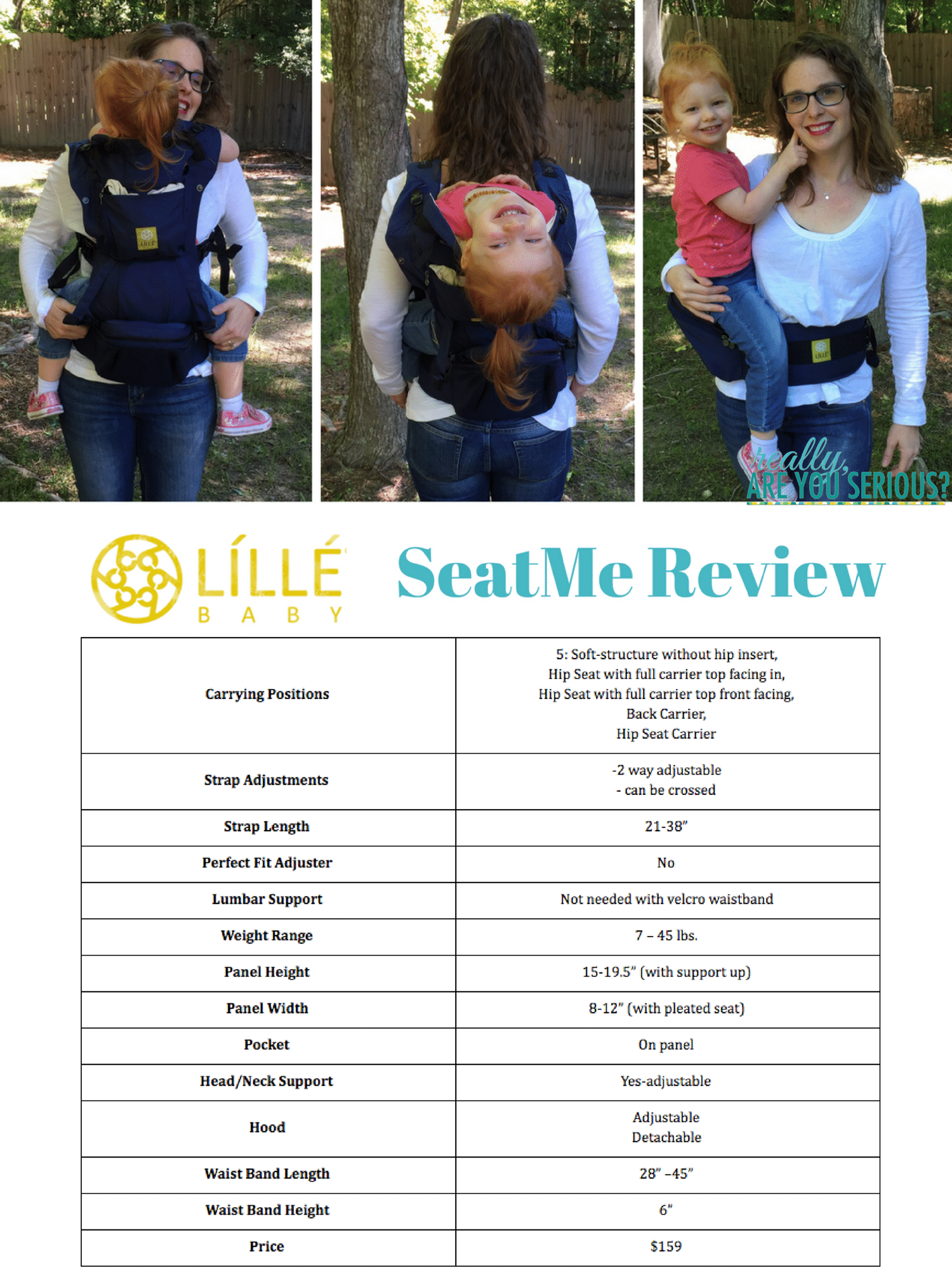 LILLEbaby SeatMe Review with chart