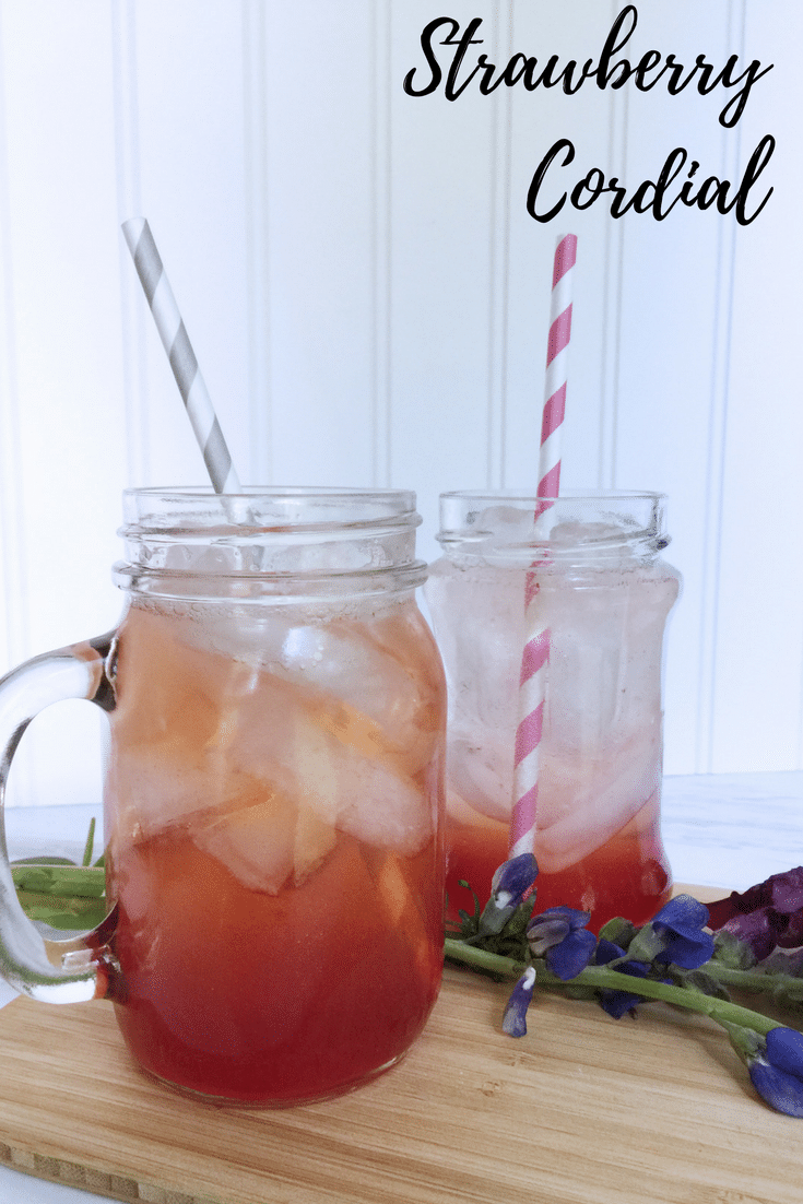 Strawberry Cordial Recipe pin