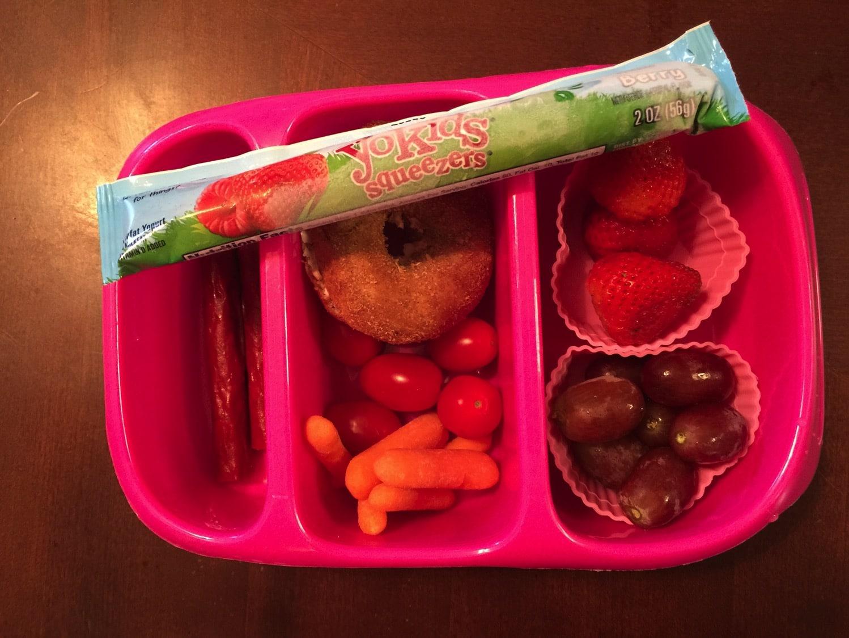 preschool lunch with stonyfield farms yogurt
