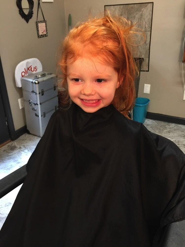 B's first haircut