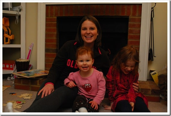 Mommy and Me Monday: By the fire