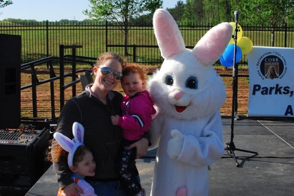 Mommy and Me Monday- Mommy, the girls and the bunny