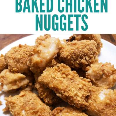 gluten-free baked chicken nuggets pin