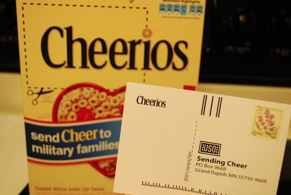 Cheerios Cheer and USO