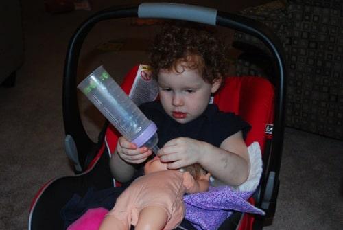 feeding her baby