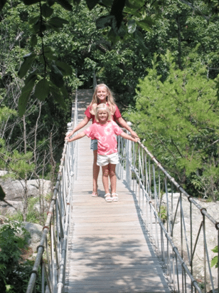 Swing-A-Long bridge, a family favorite