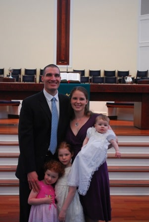 family picture baptism