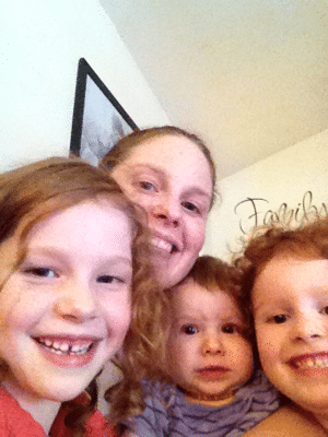 Mommy and three girls