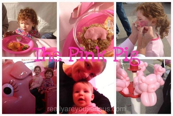 Pink Pig Collage