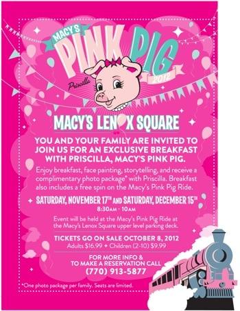 Lenox pink pig breakfast