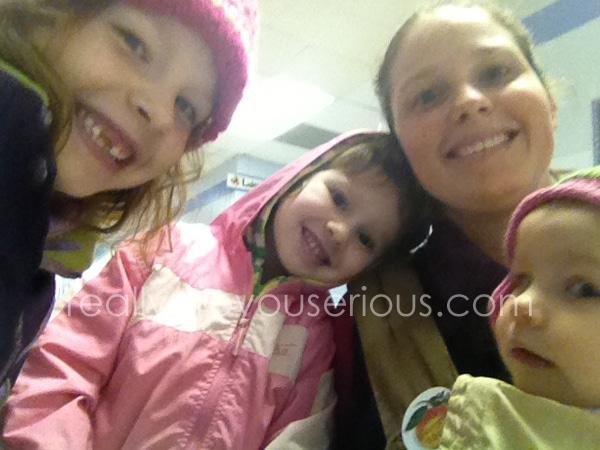 getting our vote on with three kids in tow