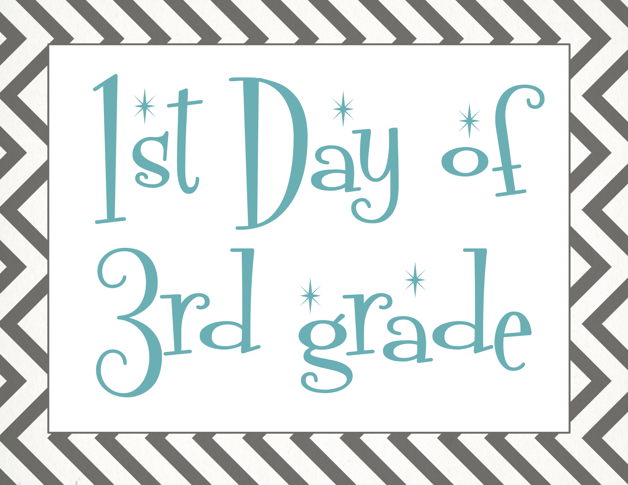 photograph regarding First Day of 3rd Grade Sign Printable referred to as Back again towards College or university: Totally free Very first Working day of Faculty Printables