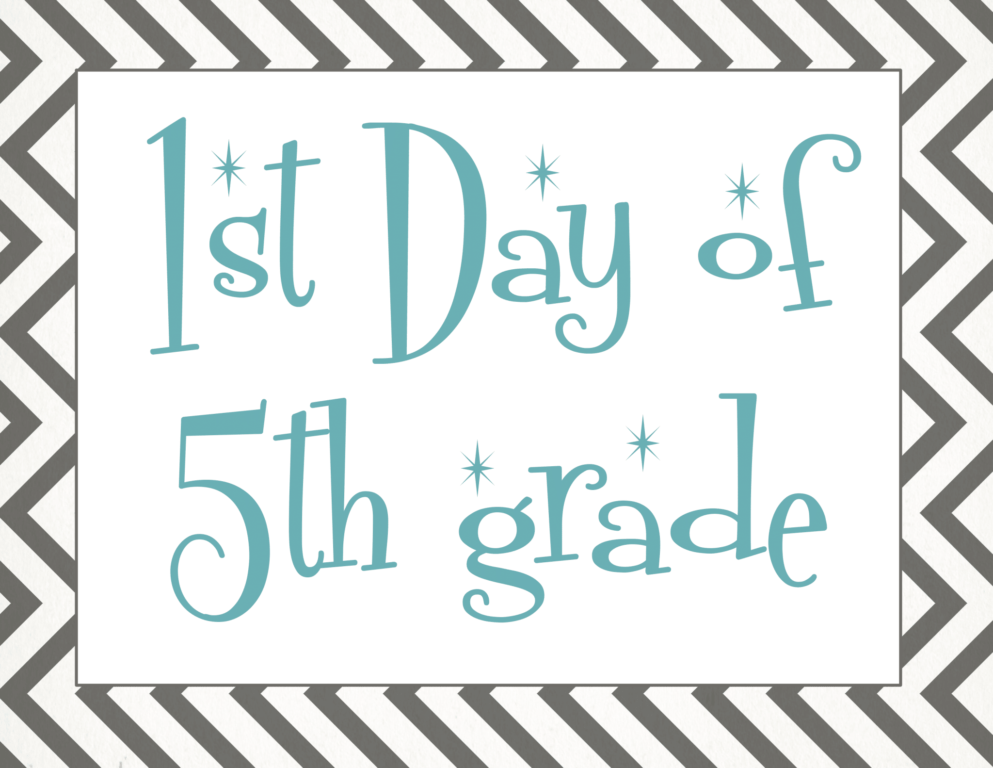 image relating to First Day of 5th Grade Printable named Again towards College: Totally free Initial Working day of University Printables
