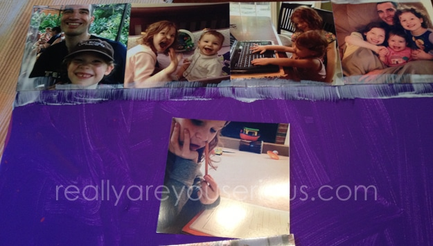 How to make an easy canvas using print photos from your phone #shop