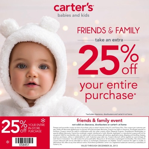 MCC Carter s Friends  Family Coupon