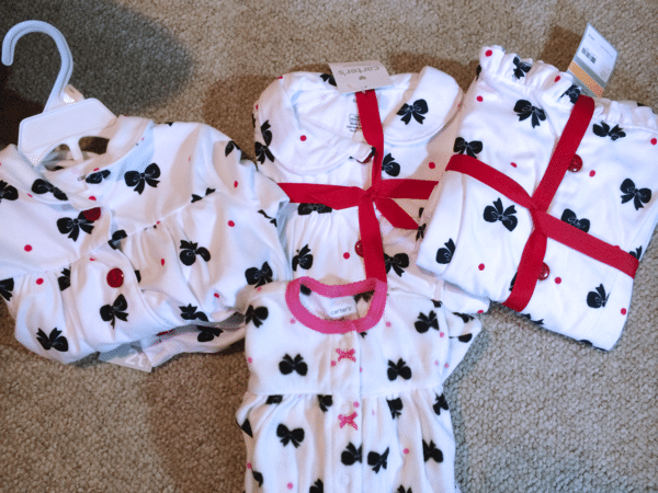 Matching jammies for my 4 girls
