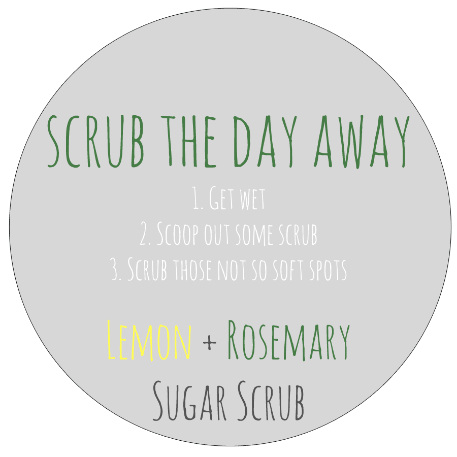 lemon rosemary sugar scrub label