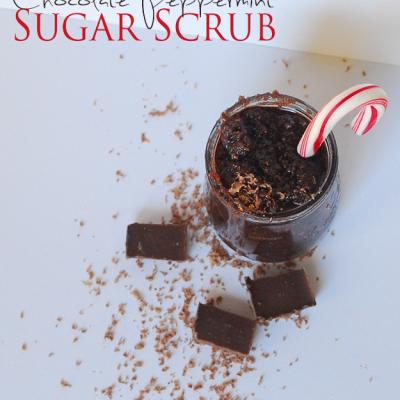 EASY DIY Chocolate Peppermint Sugar Scrub
