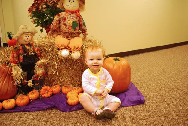 pumpkin patch 10 month smiles