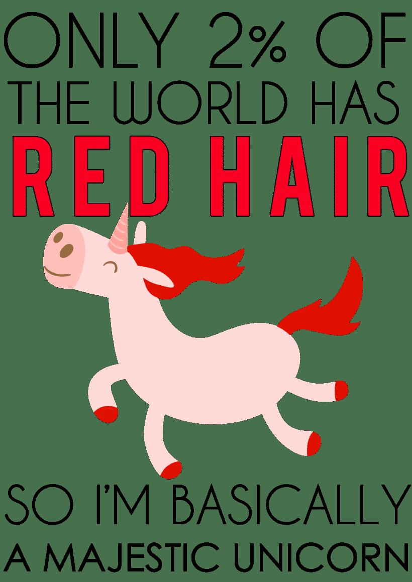 redhead majestic unicorn shirt
