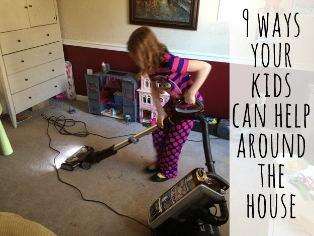 9 ways kids can help around the house