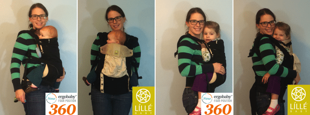 lillebaby complete vs ergobaby 360 Front facing in