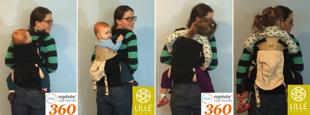 lillebaby complete vs ergobaby 360 back carry