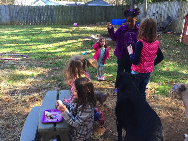 outside playing disney kids