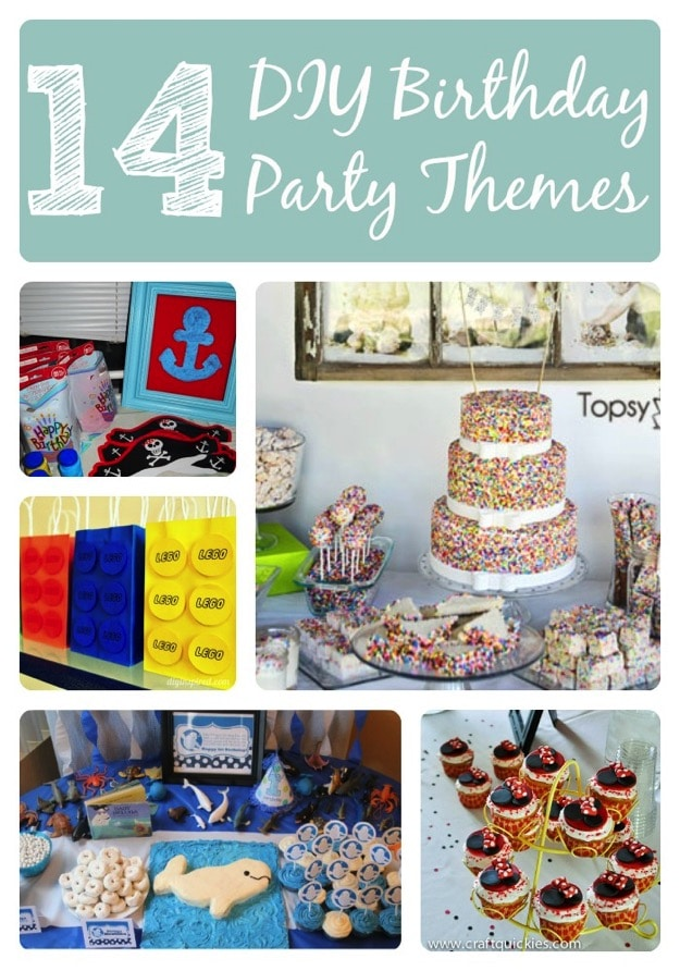 14 Awesome DIY Kid Birthday Party Themes First Birthday Party Themes