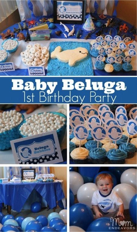 Baby Beluga 1st Birthday Party 603x1024