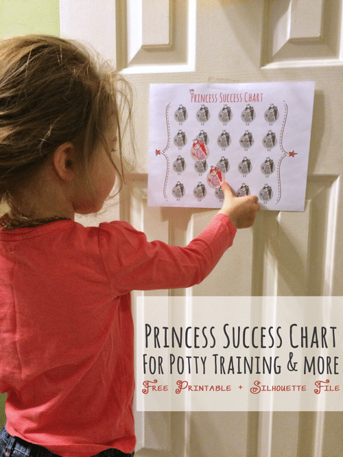 free printable and silhouette cut file princess success chart for potty training and morepng