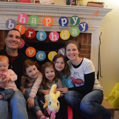 E's third birthday