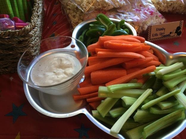 Mickey veggie platter