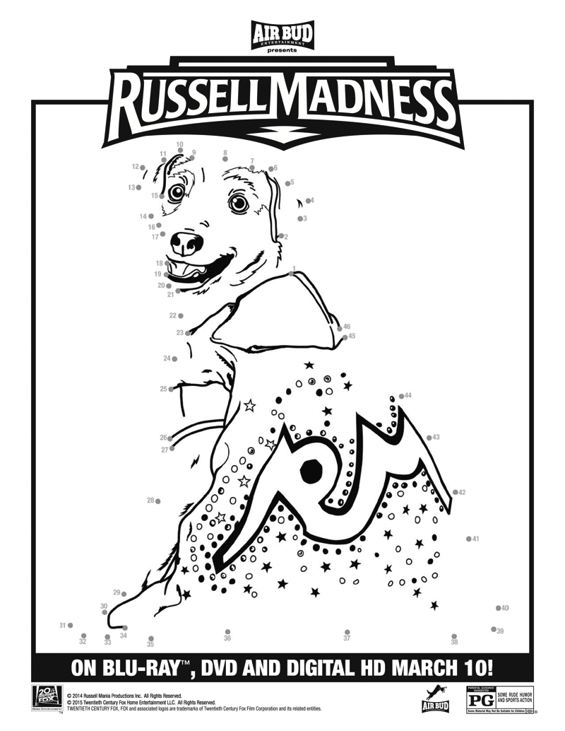 Russell Madness Connect the Dots printable
